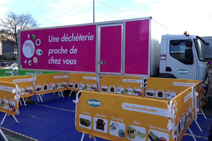 déchetterie mobile du syctom à ivry-sur-seine - syctom